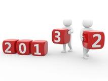 3d person - nytt år för början Arkivfoton