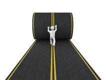 3d person paves road Royalty Free Stock Image