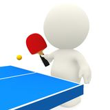 3D person playing ping-pong Royalty Free Stock Photography