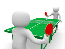 3d person playing table tennis Stock Photos
