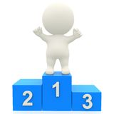 3d person in a podium Royalty Free Stock Photos