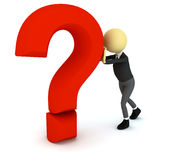 3d person with question sign Stock Images