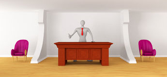3d person on the reception Royalty Free Stock Images