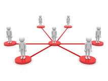 3d person - social network community people team Stock Photo