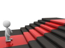 3d person on stairs Stock Images