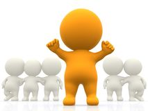 3D person standing out Stock Image