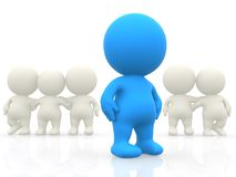 3D person standing out Royalty Free Stock Photo