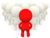 3D person standing out Royalty Free Stock Photos