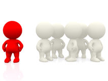 3d person standing out Stock Photos