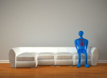 3d person waiting for admission. Alone 3d person waiting for admission Stock Image