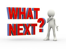 Free 3d Person With What Next Question Royalty Free Stock Images - 47575459