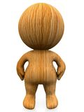 3D person in wood Stock Photos