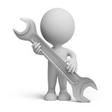 3d person with a wrench Royalty Free Stock Photos