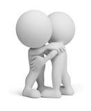 3d persona - abbraccio amichevole Fotografie Stock Libere da Diritti