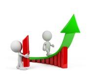 3d persona - uno sviluppo di tendenza illustrazione di stock