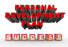 3d personal development plan Royalty Free Stock Photography