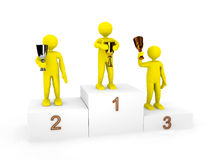 3d persons on podium Stock Images
