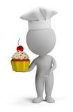 3d petits gens - confiseur avec le gâteau illustration stock