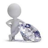 3d petits gens - diamant Photos libres de droits