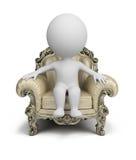 3d petits gens - fauteuil luxueux illustration stock