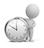 3d petits gens - horloge Images libres de droits