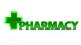 3d pharmacy Royalty Free Stock Photos