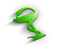 3D Pharmacy symbol. Beautiful green 3D pharmacy symbol Royalty Free Stock Photos