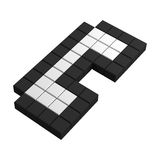 3d phone tube pixel icon. Black and white illustration Stock Photo