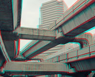 3d photo of metro trains Royalty Free Stock Images