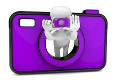 3d photographer Royalty Free Stock Image