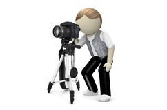 3D Photographer with camera Royalty Free Stock Photo