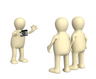 3d photographer, photographing of two friends Royalty Free Stock Photo