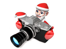 3d photographer santa claus Royalty Free Stock Image