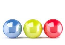 3d piłek koloru odosobniony biel Obrazy Stock