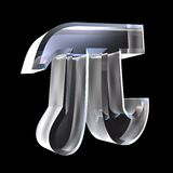 3D Pi Symbol In Glass Stock Photo