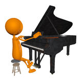 3d the piano. 3d Young man playing the piano Stock Photography