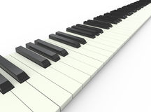 3d piano keyboard. 3d render of piano musical keyboard Royalty Free Stock Images