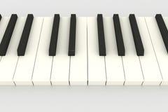 3D pianotoetsenbord Stock Fotografie