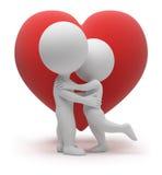3d piccola gente - amore illustrazione di stock
