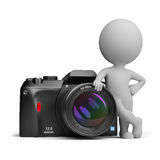 3d piccola gente - macchina fotografica digitale Immagine Stock Libera da Diritti
