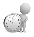 3d piccola gente - orologio Immagini Stock Libere da Diritti