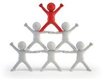 3d piccola gente - piramide di successo illustrazione di stock
