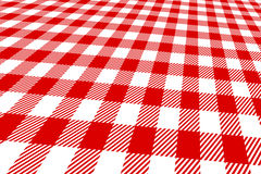 3d picnic tablecloth red and white stock illustration