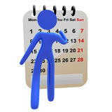 3d pictogram icon marking calendar Royalty Free Stock Image
