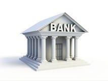 3d pictogram van de bank Stock Afbeelding