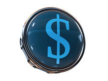 3d pictogramdollar Stock Foto's