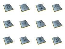 3d pictogrammen Stock Foto
