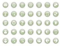 3d pictogrammen stock illustratie