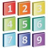 3D pictogrammen van het aantalteken Stock Foto