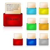 3D pictogrammen van het omslagWeb Stock Afbeelding